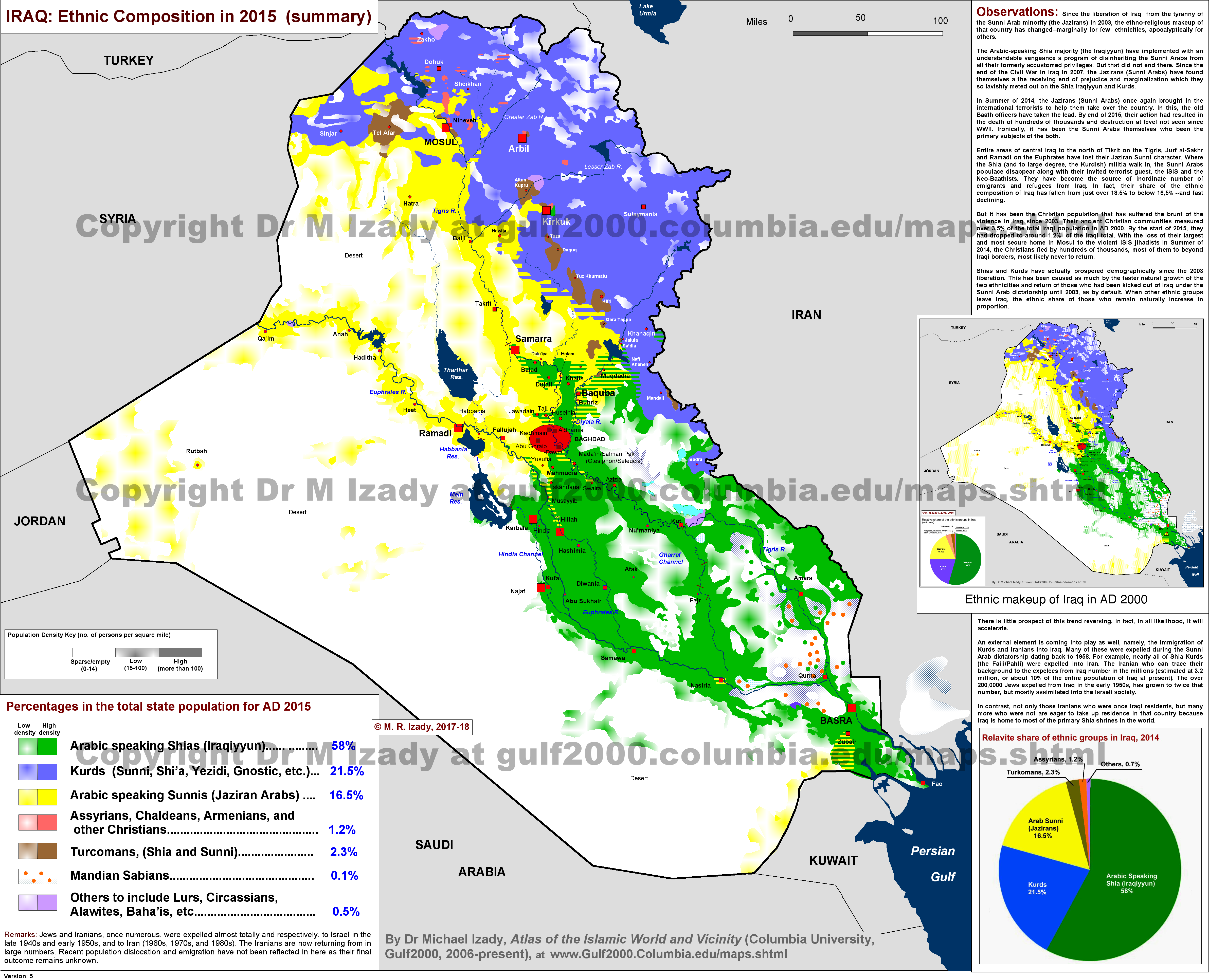Ethnic map of middle east | Download them and print