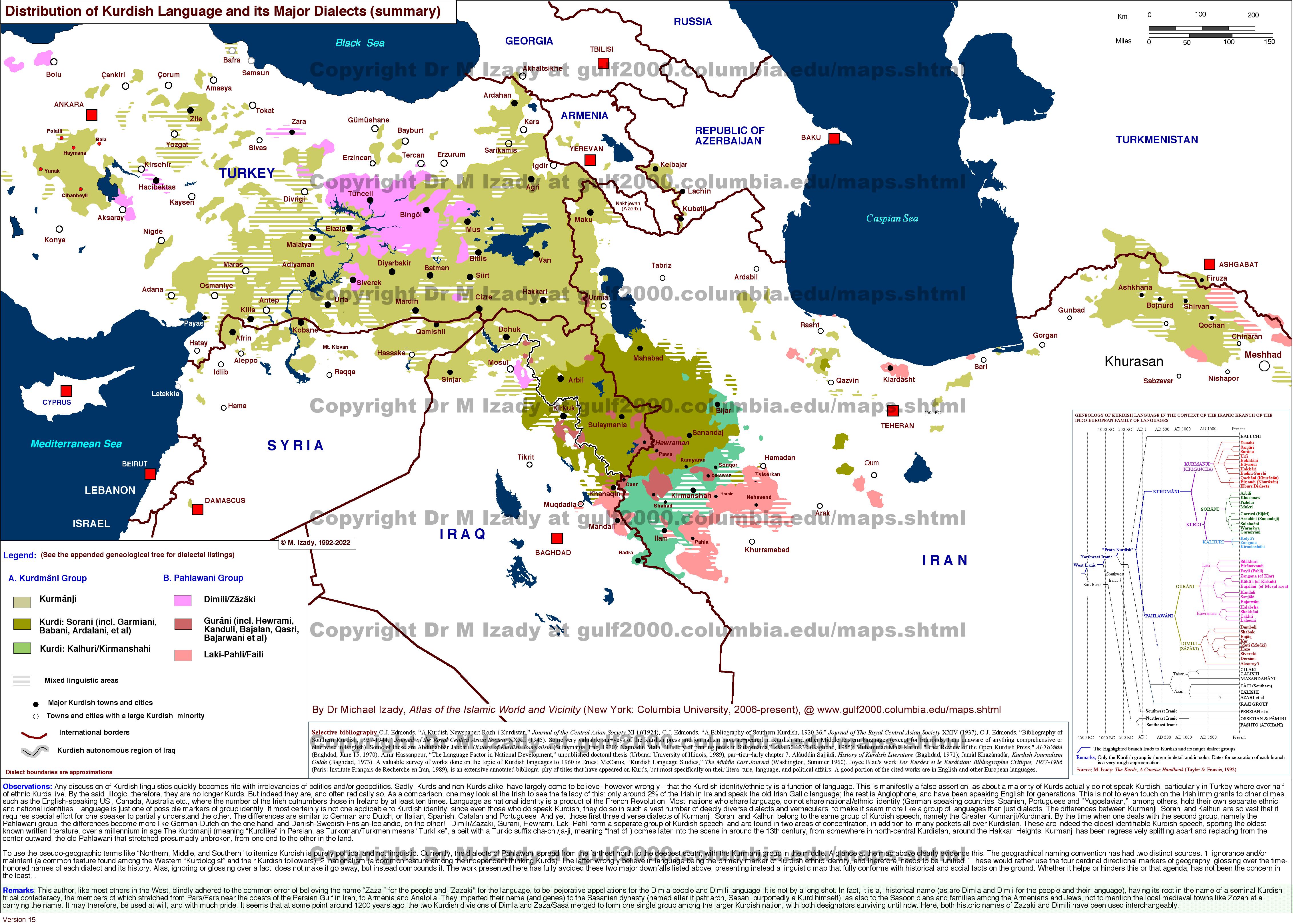 The gulf2000 project sipa columbia university kurdish language and its dialects distribution small gumiabroncs Choice Image