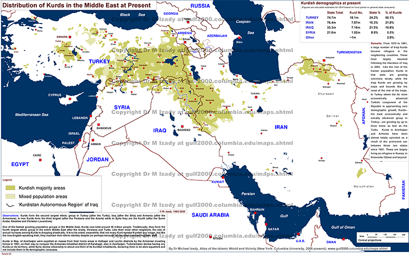 Kurds In The Middle East And Vicinity